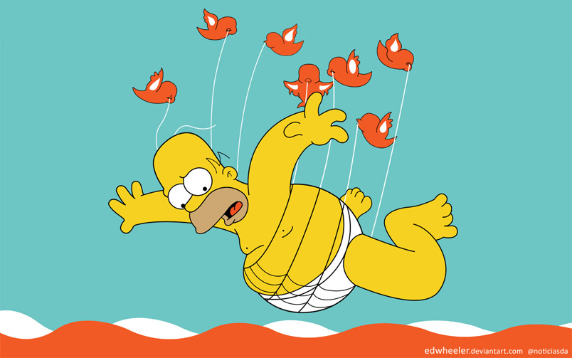 Twitter Fail Whale Homer Simpson